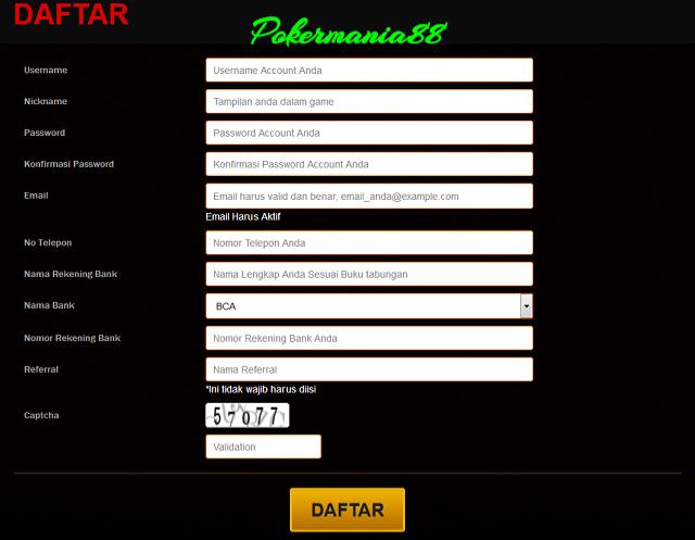 Foto Cara Mendaftar Judi Bandar Ceme 99 Online di Pokermania88